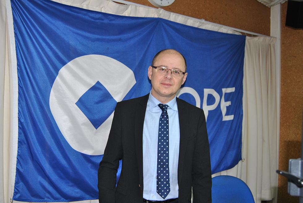 El alcalde de Peñaranda, José Antonio Jiménez Barcala, en los estudios de COPE Peñaranda