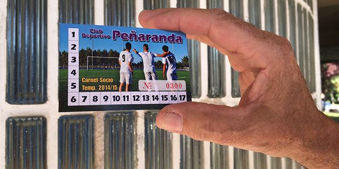 Carne de socios del Club Deportivo Peñaranda