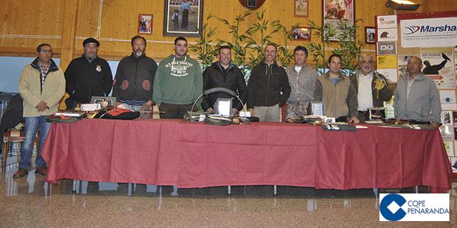 Algunos de los ganadores de los torneo de altanería celebrados en Peñaranda