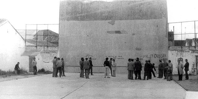 Imagen del frontón del juego de pelota de Peñaranda. / FOTO: Peñaranda de Bracamonte, fotos antiguas
