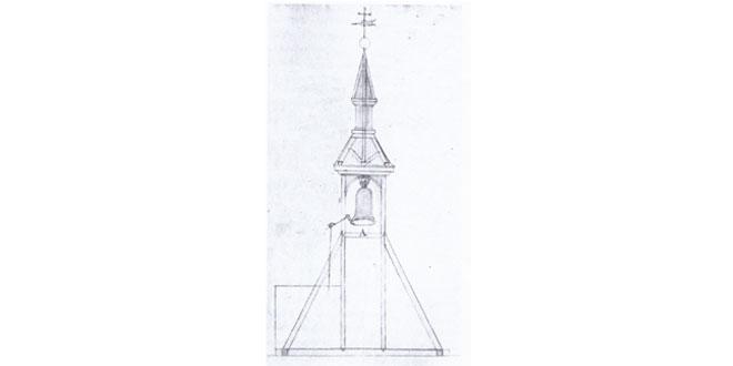 Plano de la torre de la iglesia parroquial de Peñaranda