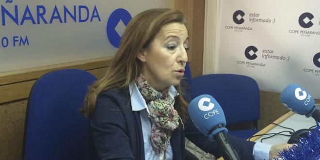 La portavoz del PP en el Ayuntamiento, Carmen Familiar, en la entrevista en COPE Peñaranda