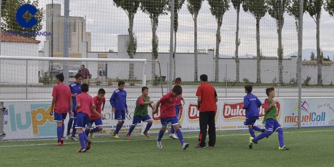Los infantiles del CD Peñaranda durante un entrenamiento
