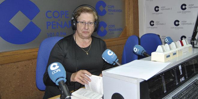 La presidenta diocesana de las Voluntarias de San Vicente de Paúl, María Pilar Viela