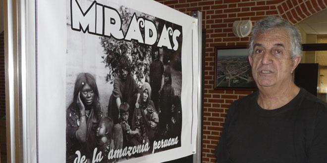 El sacerdote dominico Roberto Abalos expone sus fotografías en Villoria