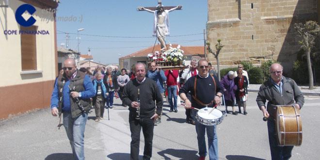 Los vecinos del Villar de Gallimazo festejaron al Cristo de la Custodia