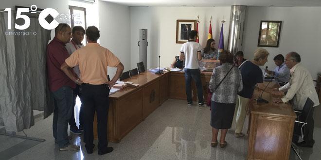 Colegio electoral ubicado en la Casa Consistorial peñarandina