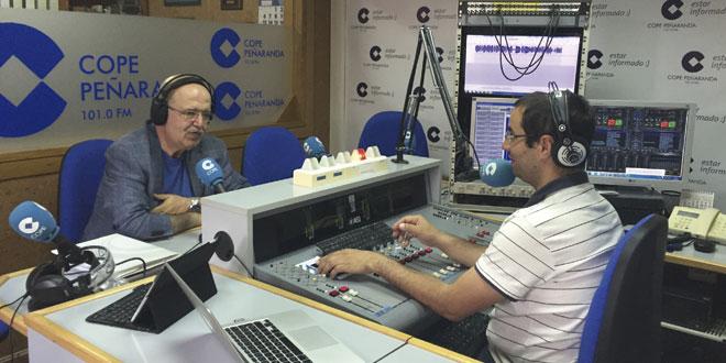 Miguel Ángel Nuñez durante la entrevista en LA MAÑANA EN PEÑARANDA