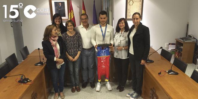 Ignacio Comillas fue recibido oficialmente en el Ayuntamiento de Peñaranda