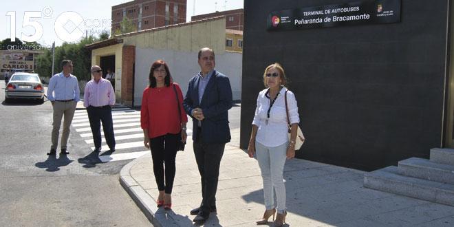 Ignacio Santos inauguró la terminal de autobuses de Peñaranda