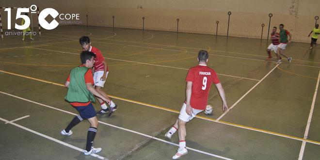 Un momento del partido entre @PubGargio y Aldeaseca FC en el Torneo de verano de FS