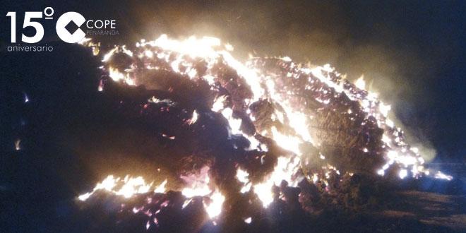 Imagen del incendio de alpacas en Aldeaseca de la Frontera