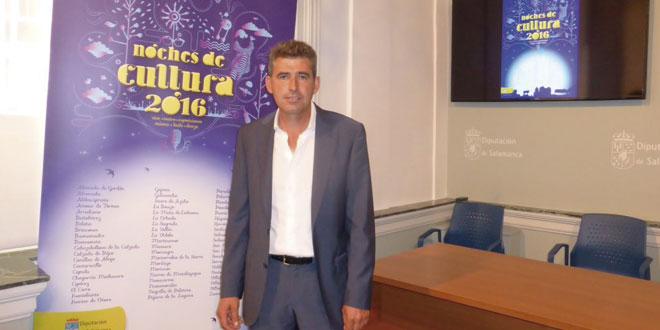 El diputado de Cultura, Julián Barreda, durante la presentación de Noches de Cultural. / FOTO: Diputación de Salamanca