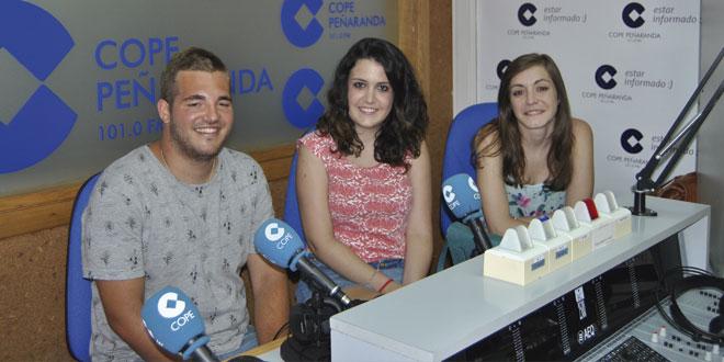 Miembros de la Asociación juvenil Raga+ durante la entrevista en COPE Peñaranda