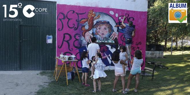 Los vecinos de Rágama han comprobado de cerca el trabajo de los artistas