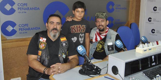 Antonio Diezma, José Luis Diaz, y Guillermo Diaz en los estudios de COPE Peñaranda