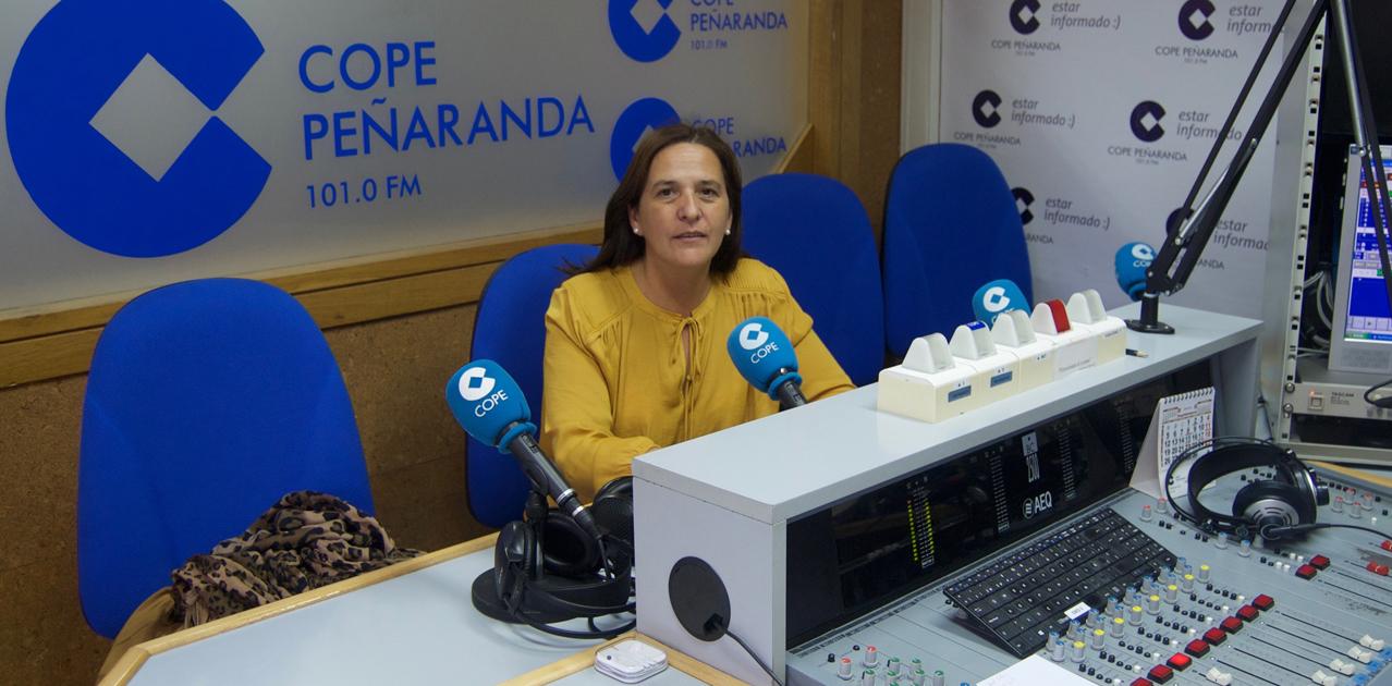 Maite Pérez, presidenta del Comité comarcal de Cruz Roja en Peñaranda