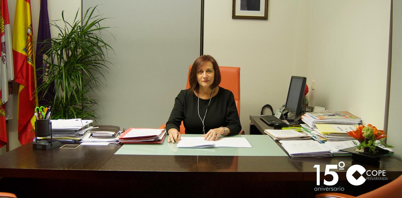 La alcaldesa de Peñaranda, Carmen Ávila de Manueles.