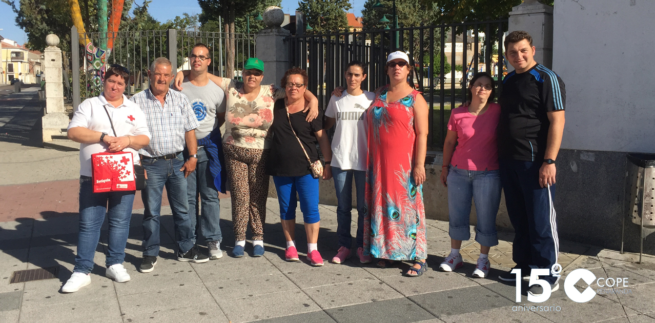 Algunos de los participantes en el primero Paseo saludable de este año en Cruz Roja