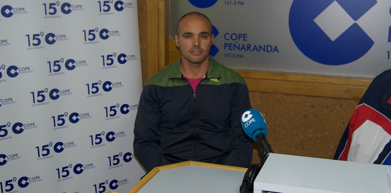El concejal del PP, David Sánchez Plaza, durante la entrevista en COPE Peñaranda