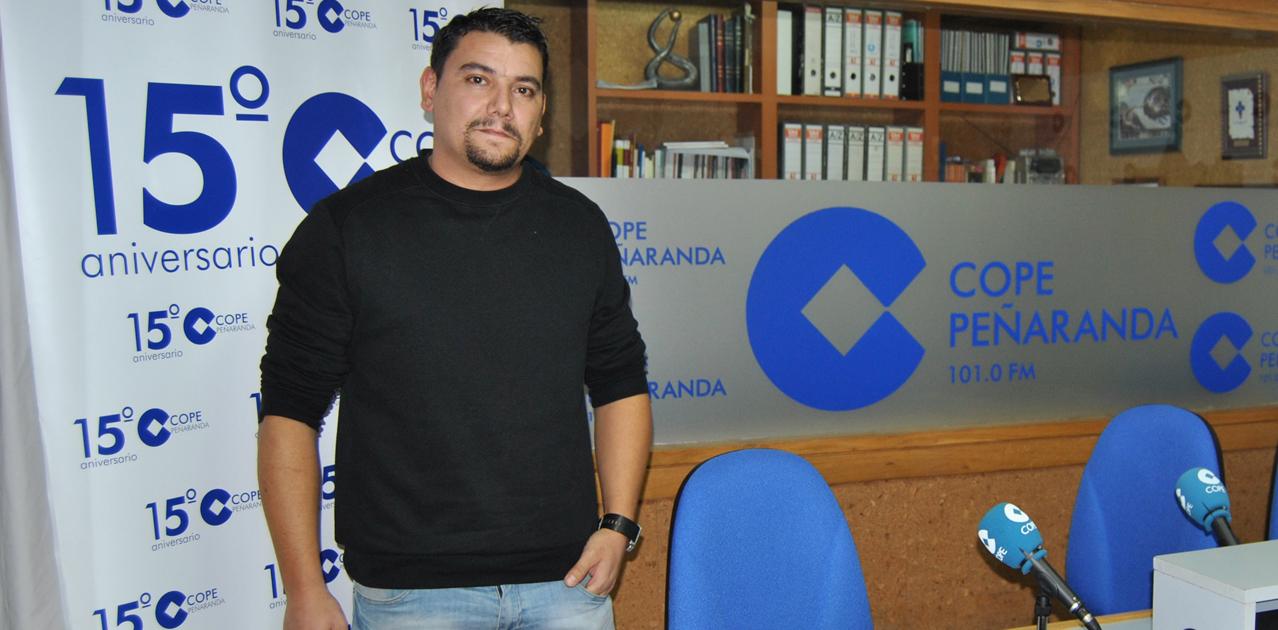 Miguel Ángel Casas, dj Briyi, tras la entrevista en COPE Peñaranda