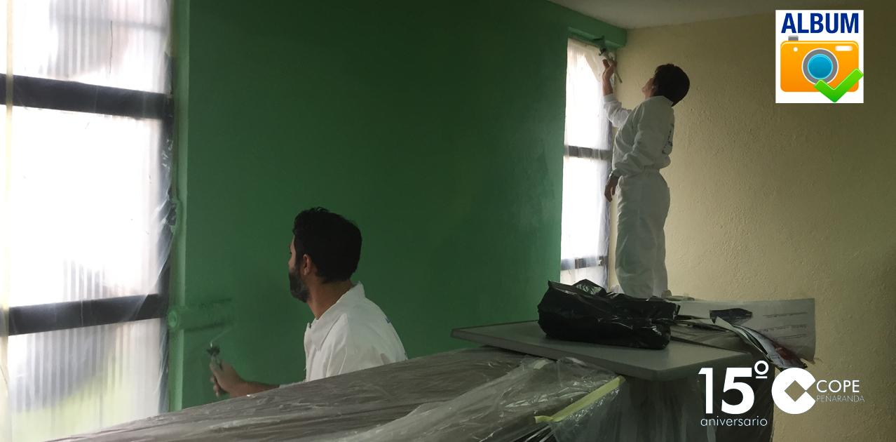 Los alumnos del programa mixto de formación y empleo realizarán diferentes trabajos de pintura en edificios municipales