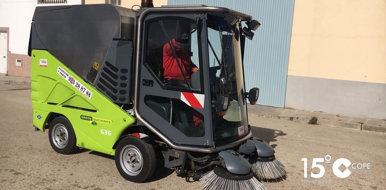 Nueva máquina barredora adquirida por el Ayuntamiento de Villoria
