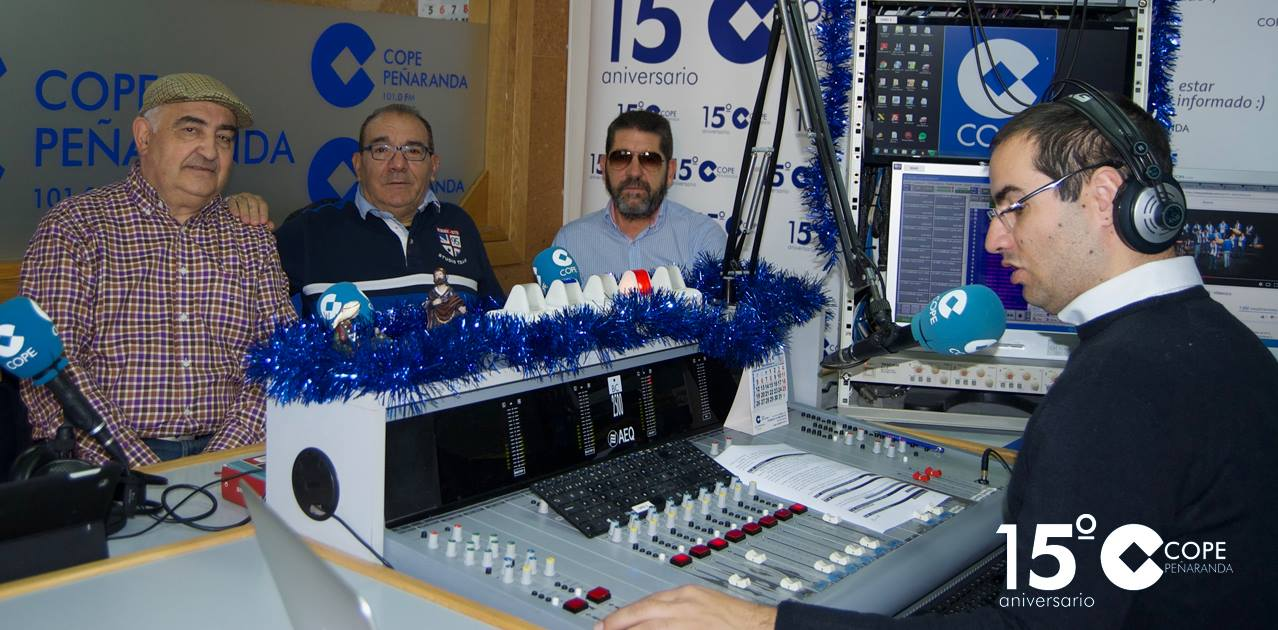 Miguel Alfayate y Paulino Gil durante la entrevista en LA MAÑANA EN PEÑARANDA