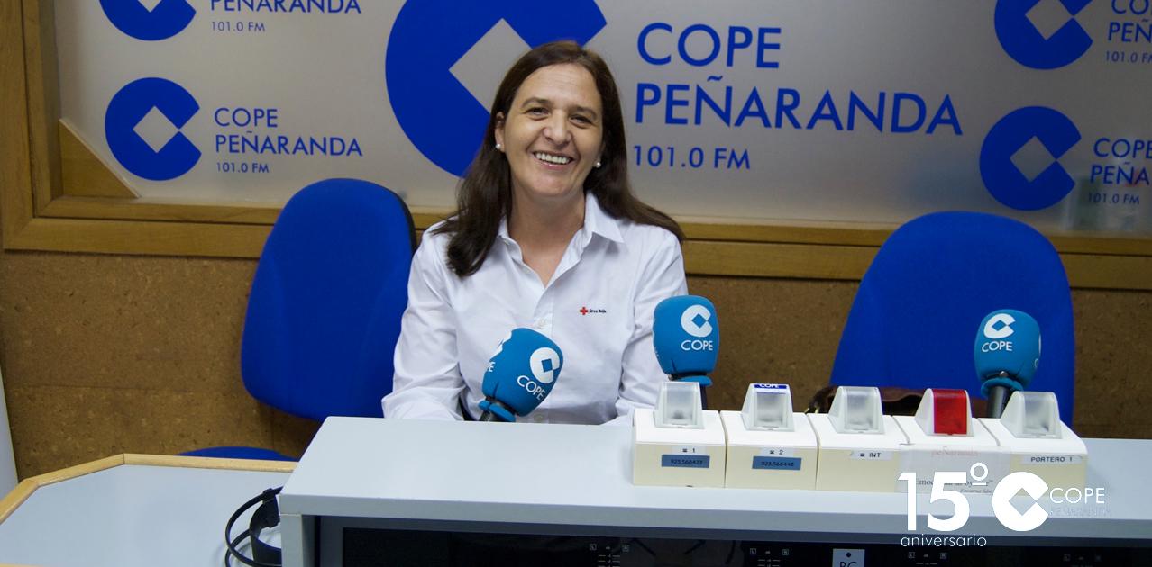 La presidenta del Comité comarcal de Cruz Roja, Maite Pérez, en LA MAÑANA EN PEÑARANDA