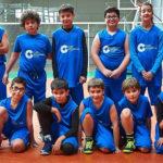 Equipo alevín de la Escuela municipal de Baloncesto de Peñaranda de Bracamonte.