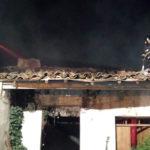 El incendio se declaró pasadas las ocho de la tarde en una vivienda deshabitada de Villoruela.