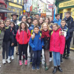 Alumnos de Academia Líder, en Peñaranda, durante su viaje a Irlanda.