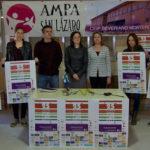Miembros del AMPA, el Centro educativo y el Ayuntamiento durante la presentación de la XXV Carrera popular peñarandina Padres, hijos y abuelos.