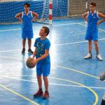 Jugadores del equipo infantil de la Escuela municipal de Baloncesto durante uno de los partidos. / FOTO: Ángel García, Lillo.