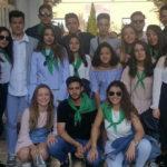 Los jóvenes de la Parroquia de Peñaranda tras regresar de su Pascua juvenil en Pereña.