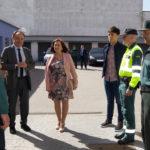 El subdelegado del Gobierno, Antonio Andrés Laso, se reunió con la corporación municipal y visitó el cuartel de la Guardia civil.