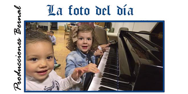 Alumnos del CEI Gloria Fuertes en la Escuela municipal de música