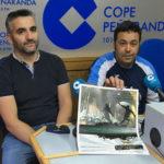 Bene Rodríguez y Ramón García tras la entrevista en COPE Peñaranda.