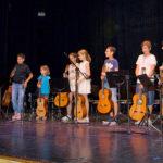 Los alumnos de la Escuela municipal de música durante la audición de fin de curso.