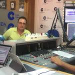 Los profesores, Antonio Patricio y Francisco Pérez, durante la entrevista en LA MAÑANA EN PEÑARANDA.