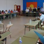 Jesús Laborda durante la reunión con el claustro de profesores de los dos institutos de Peñaranda