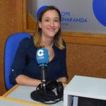 La logopeda peñarandina, Elena Mesonero, en los estudios de COPE Peñaranda.