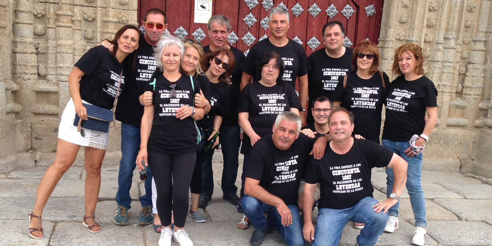 Los quintos del 67 de Santiago de la Puebla se reencontraron con motivo de 50 cumpleaños