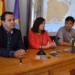 El diputado de Turismo, Javier García, junto a la alcaldesa, Carmen Ávila, y el concejal de Turismo, Francisco Díaz.