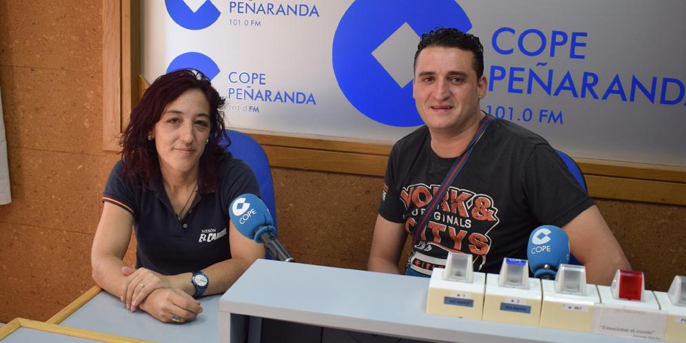 Isabel Jiménez, del Mesón El Candil, e Ivan Zurdo, del Bar Pepe, ganadores del XI Concurso de pinchos.