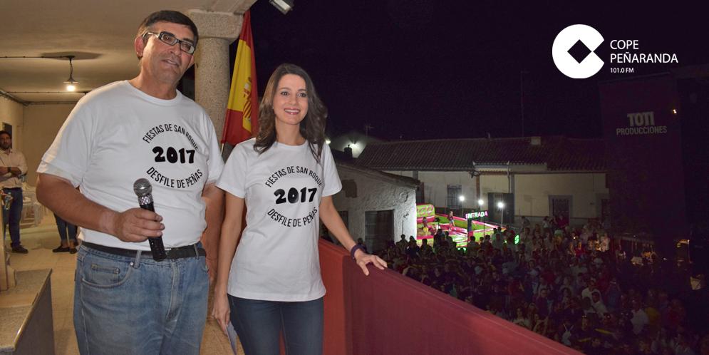La política catalana, Inés Arrimadas, pronunció el pregón de las fiestas de Salmoral.
