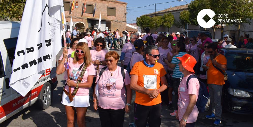 La Marcha Teresiano ha atravesado estos días diferentes pueblos de la comarca.