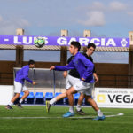 Entrenamiento de los jugadores del primer equipo del CD Peñaranda.