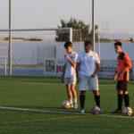 Los juveniles del CD Peñaranda durante uno de los entrenamientos.