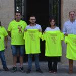 Promotores de la II Marcha solidaria contra el Cáncer en la presentación de esta iniciativa.
